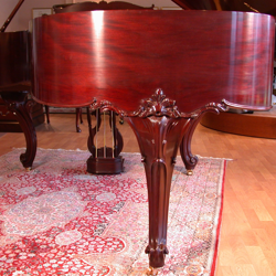 Refinished grand piano
