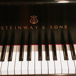 Piano keys after restoration