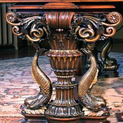 Leg detail of restored Austrian Ehrbar grand piano