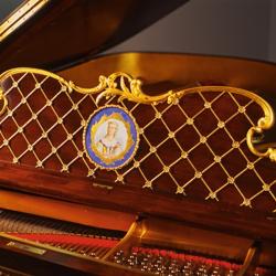 Restored 1902 gilded music rack
