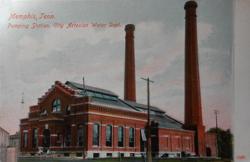 postcard mailed 1910 Memphis, Tenn. Pumping Station. City Artesian Water Dept