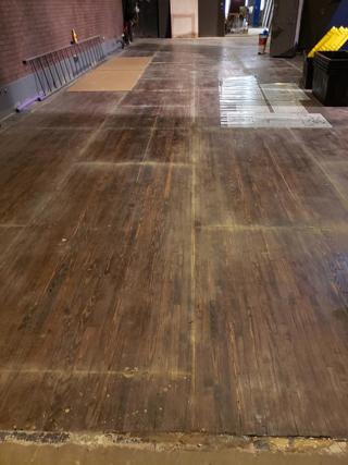 Refinished Lohrey Stage floor