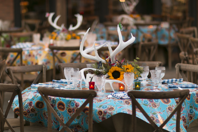 event seating and tablescape
