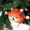 tiger holiday tree ornament