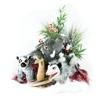 stuffed animals gift set