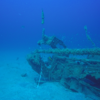 Receiver and floats at the U352 wreck off the North Carolina coast