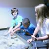 Junior Volunteers help at the Aquarium