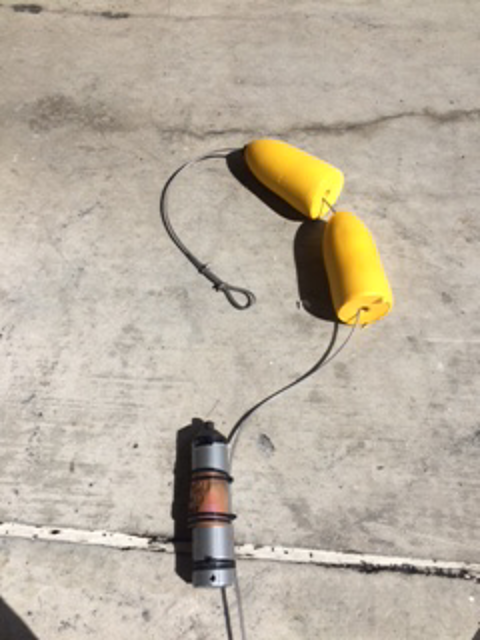 Receiver attached to floats