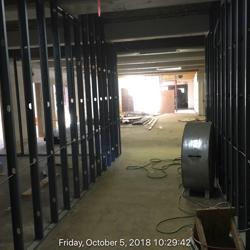Lower -level corridor