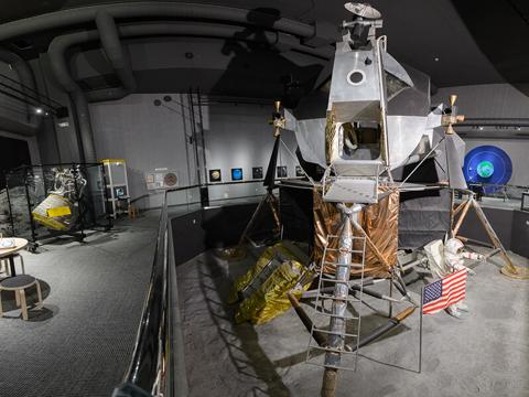 Lunar Lander in the Aerospace Exhibit