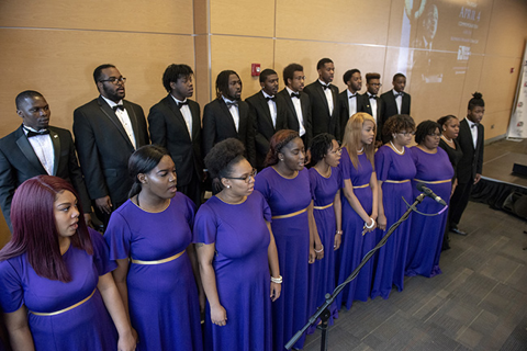 HBCU LeMoyne Owen College Choir performs.