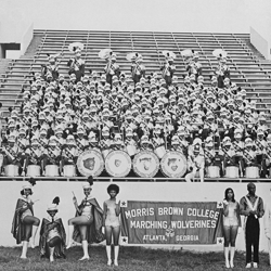 The Marching Wolverines--Alonzo F. Herndon Stadium--1972, ©Andrew Feiler