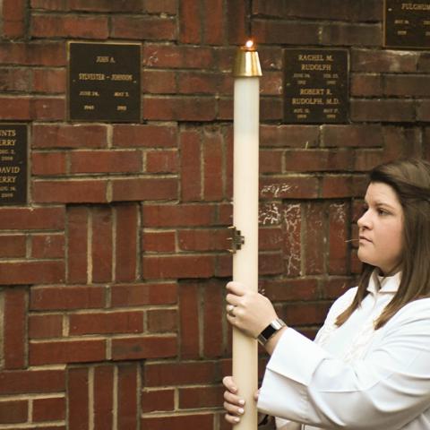 The Rev Whitney Burton, Easter Vigil