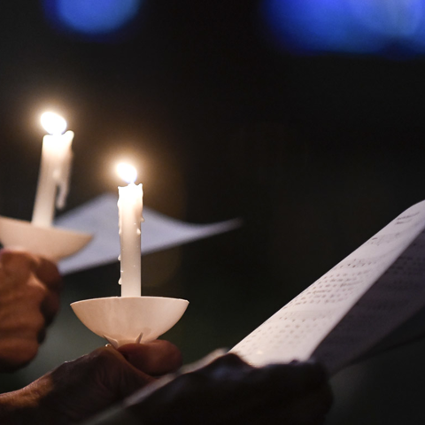 Candlelight at Easter Vigil