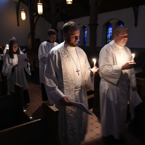 The processional, Easter Vigil