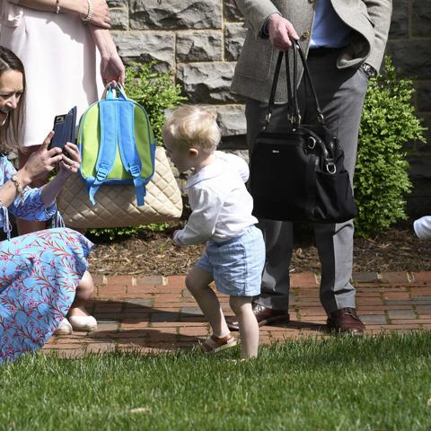 Easter egg hunt: A family affair