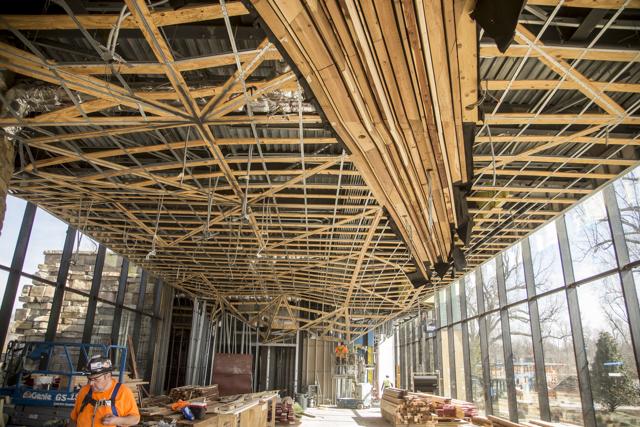 Williams Lodge Ceiling Installation, February 2018