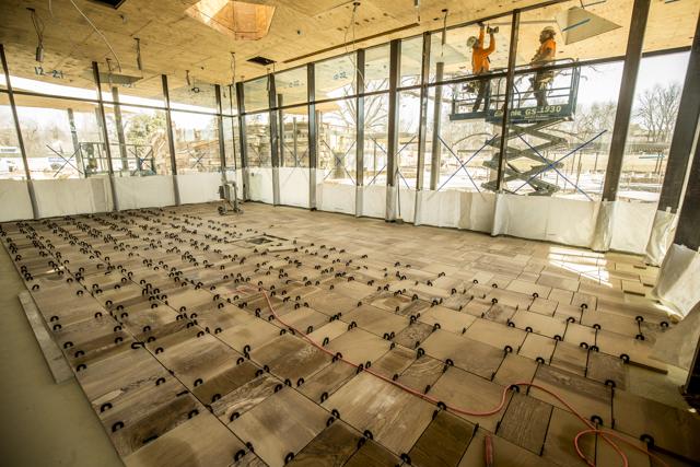 Lodge Floor Installation, March 2018