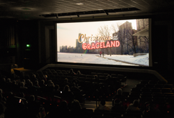 "Fans watched the new Hallmark Original Movie, ""Christmas at Graceland,"" at The Guest House at Graceland."