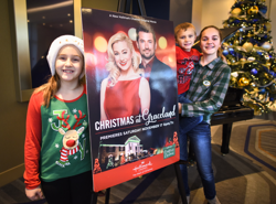 "Fans watched the new Hallmark Channel Original Movie ""Christmas at Graceland"" at The Guest House Theater."