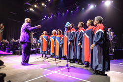 The Tennessee Mass Choir performed during the Christmas concert.