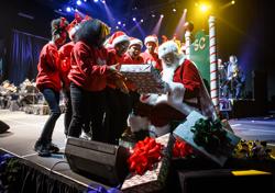 Santa made an appearance at the Christmas concert!