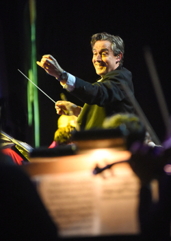 Conductor Robin Smith led the orchestra for the Christmas concert.
