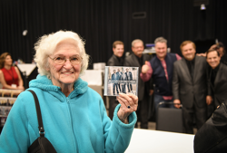Fans snapped up CDs by the gospel groups after the concert.