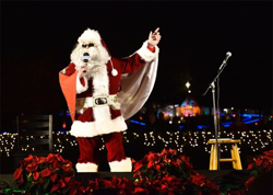 Elvis-inspired Santa greeted the audience at the Lighting Ceremony.