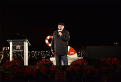 DJ Argo welcomed fans to Graceland as part of the Lighting Ceremony
