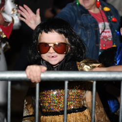 This Elvis-inspired child loved the Lighting Ceremony!