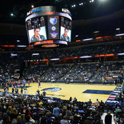 Packed house with the Memphis Grizzlies for Elvis Night!