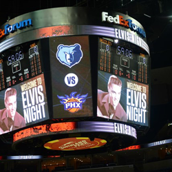 Fans pack the FedExForum for Elvis Night with the Memphis Grizzlies.