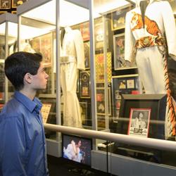 Elvis fan David Thibault takes in the king