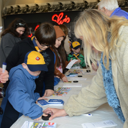 Fingerprint time! Scouts get to test out their detective skills during the 2014 Scouts Rock at Graceland.