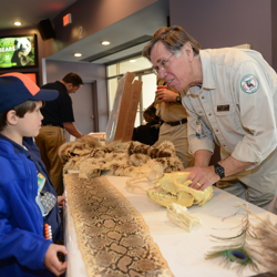 This boy scout gets a lesson about nature during the 2014 Scouts Rock at Graceland.