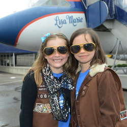 Gold shades and planes! Little Elvis fans take the tour of Graceland during Scouts Rock at Graceland.