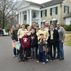 Scouts wrap up their tour of Elvis Presley