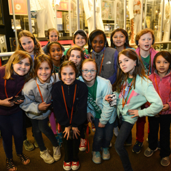 Girl Scouts tour the Racquetball Building at Elvis Presley