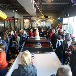 Fans line up for birthday cake at Graceland on January 8.