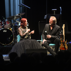 Priscilla Presley and Andy Childs spoke about the king during the Elvis: Live in Concert event.