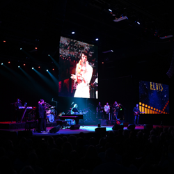 The Elvis: Live in Concert event showcased the king on the big screen.