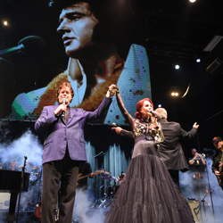 Jerry Schilling and Priscilla Presley made an appearance at the Elvis: Live in Concert show.