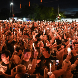 Fans from around the world paid tribute to Elvis at the vigil.