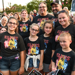 Fans of all ages paid tribute to the king!