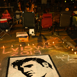 Creative fans put a lot of time and effort into their tributes to the king.