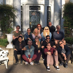 Pop singer Kesha and her tour team