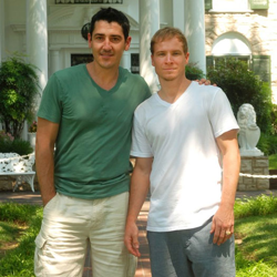 Jonathan Knight of New Kids on the Block and Brian Littrell, Member of the Backstreet Boys