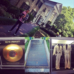 Canadian big band singer, songwriter and actor Michael Bublé took his family on tour of Graceland on July 30, 2014.