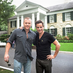 "Sean Carrigan and Christian LeBlanc from the soap opera ""The Young and The Restless."""